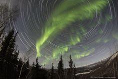 Aurora nel cielo dello Yukon