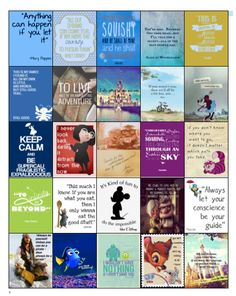 Disney Quotes for Erin Condren planner by PlannerCandyDesigns