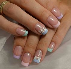 """If you're unfamiliar with nail trends and you hear the words """"coffin nails,"""" what comes to mind? It's not nails with coffins drawn on them. It's long nails with a square tip, and the look has. Gel French Manicure, French Tip Nails, Manicure And Pedicure, French Manicures, Summer French Nails, French Tips, Gel Nail, Nail Polish, French Nail Designs"""