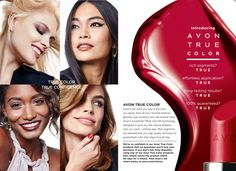 Avon NEWEST makeup Avon True Color- means the color you buy is the color you apply. Now all your favorite lipsticks, glosses, eye shadows and nail have Avon's acclamied True Color technology designed to give you a flawless look you want.. Shop online today at www.youravon.com/my1724 all on sale until Feb 23rd. #avon #new #makeup #truecolor
