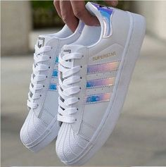 Women's Fashion Leather Casual Lace Up Sneakers Trainer Shoes-Superstar