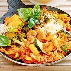Bulgur-Gemüse-Pfanne mit Parmesan Rezept | Küchengötter