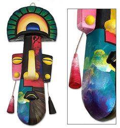 Original Ceramic Mask Decorative Andes Handpainted 'Inca Idol' NOVICA Peru #NOVICA