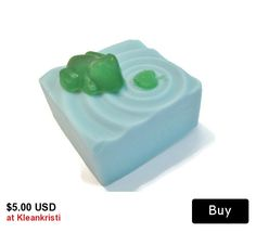 Lilly Pad Pond with frog Soap Set, Soap with facial cloth, soap gift set