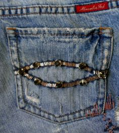 #Abercrombie & Fitch #Vintage #Destroyed Embellished #Jeans Size 4 One of a Kind! $34.99 on #eBay #Fashion