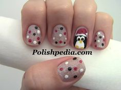 #christmas #nails #uñas #navideñas pinguino