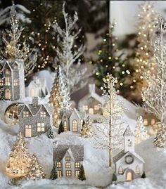 21 3d wooden house light christmas decorations 9 | rudsmyhome Christmas Village Display, Indoor Christmas Decorations, Decorating With Christmas Lights, Christmas Villages, House Decorations, Elegant Christmas, Noel Christmas, Simple Christmas, Beautiful Christmas