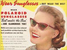 Polaroid Sunglasses c.1950 advertisement
