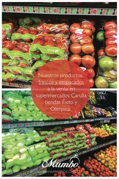 Frutas y verduras frescas y empacadas. www.mambo.com.co Frutas y verduras Mambo Cartagena de Indias - Colombia