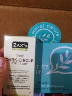 life is now or never, so don't stop me now: Dark Circle Eye Cream by Zax Healthcare