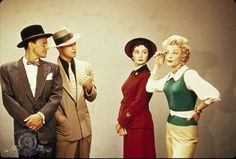 Still of Marlon Brando, Frank Sinatra, Jean Simmons and Vivian Blaine in, Guys and Dolls.