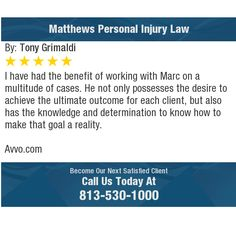 I have had the benefit of working with Marc on a multitude of cases. He not only possesses...