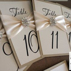 Wedding Table Number Cards / Limited Quantities