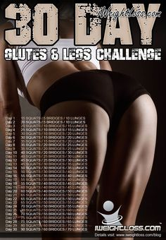 I do a 30 day challenge every month. Squats was this month, Planks is next month, I think this will be May!