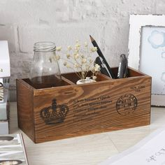 Zakka Grocery Creative Gifts Crown Solid Wood Three Grid Multi-functio – Pitchy Wooden Delights