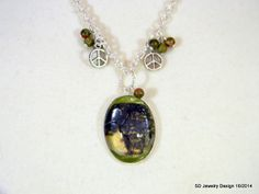 Tree Picture Pendant Necklace with Unakite by SDJewelryDesign16, $30.00