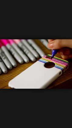 I think that's really cool that u can draw on your new phone case