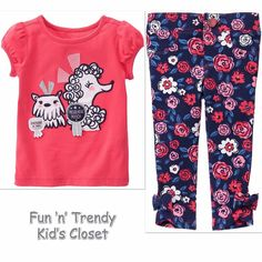 NWT Gymboree BEST IN SHOW Girls Size 6 12 18 Months Tee Top & Jeggings 2-PC SET #Gymboree #Everyday