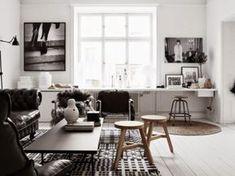 Black and White Living Room Inspiration Interior Design Blogs, Scandinavian Interior Design, Interior Design Inspiration, Scandinavian Style, Scandinavian Office, Scandi Chic, Scandinavian Apartment, Interior Ideas, Style Inspiration