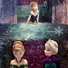 Elsa finally noticed you, Anna. <3