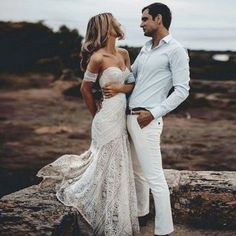Mermaid Sweetheart Sweep Train Lace Beach Wedding Dress