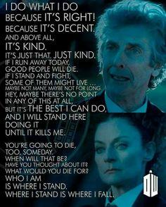 "Doctor Who ""where I stand is where I fall"""
