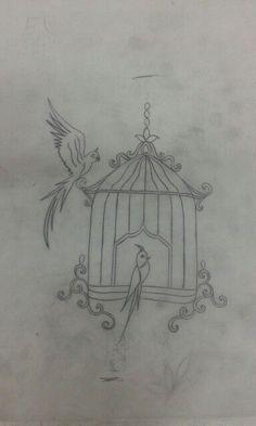 Birds in cage Zardosi Embroidery, Hand Embroidery Dress, Bird Embroidery, Embroidery Stitches, Embroidery Patterns, Quilt Patterns, Sewing Patterns, Boarder Designs, Border Embroidery Designs