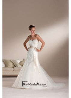 Beautiful Elegant Exquisite Mermaid Wedding Dress In Great Handwork