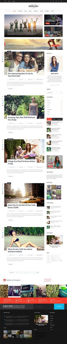 Papillon – Creative WordPress Blog Theme