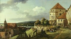 Bernardo Bellotto, The sun stone fortress above Pirna, 1753/55, canvas, 133 x 234 cm © Gemäldegalerie Alte Meister, Dresden State Art Collections