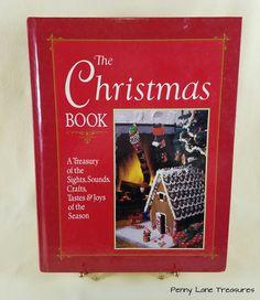 The Christmas Book ~ Crafts, Tastes & Joys ~ Treasury ~ 1980s ~ Holiday Season ~ How-To Book ~ DIY ~ Creative Holiday ~ Penny Lane Treasures by PennyLaneTreasures on Etsy