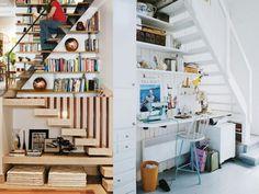 idée d'aménagement sous escalier