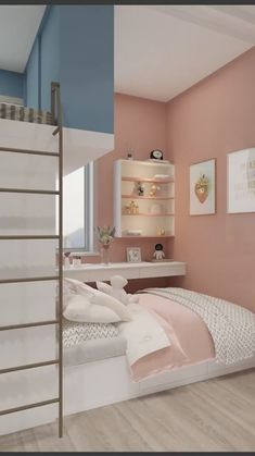 Small Room Design Bedroom, Kids Bedroom Designs, Bedroom Furniture Design, Room Interior Design, Home Room Design, Room Decor Bedroom, Kids Room Design, Cool Room Designs, House Rooms