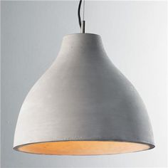 Large Concrete Dome Pendant $245 - great if you go with great chairs.  Modern + natural