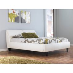 Signature Design by Ashley Jansey White Upholstered Storage Bed | Overstock™ Shopping - Great Deals on Signature Design by Ashley Beds