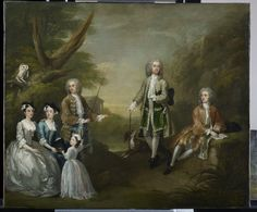 """""""The Popple and Ashley Families"""", William Hogarth, Royal Collection Trust 400048 Group Photo Poses, Royal Collection Trust, William Hogarth, Minimal Theme, History Of England, 18th Century Fashion, Old Paintings, Family Portraits, Photo Art"""