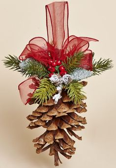 Christmas is near our house, and we need to prepare something for this special day. Try to do these 16 contemporary Christmas Tree Decoration. Cone Christmas Trees, Christmas Holidays, Christmas Wreaths, Christmas Ornaments, Pinecone Christmas Crafts, Pine Cone Decorations, Christmas Tree Decorations, Christmas Projects, Holiday Crafts