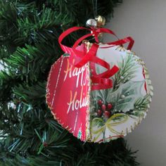 Never wonder what to do with all those holiday cards ever again. You can turn 'em into ornaments, then let the well-wishers try to spot their own when they pop by for a visit. Get the tutorial at Hub Pages.