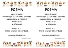 BUSCANT IDEES: POEMES DE NADAL- POEMAS DE NAVIDAD - CHRISTMAS POEMS Christmas Poems, Kids Christmas, Jingle Bells, Valencia, Projects To Try, Photo Wall, Christmas Decorations, Album, Frame