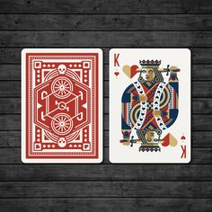 DKNG 'Red Wheel' Playing Cards by dkngstudios on Etsy