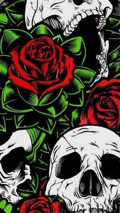 Trippy Wallpaper, Graffiti Wallpaper, Skull Wallpaper, Dark Wallpaper, Wallpaper Backgrounds, Iphone Wallpaper, Mobile Wallpaper, Iphone Backgrounds, Skulls And Roses