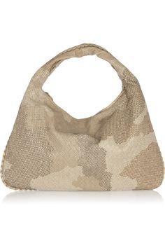 Bottega Veneta Veneta Large embroidered intrecciato leather shoulder bag  Luxury Handbags 6c0ef30b73459