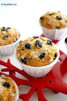 Yulaflı Yaban Mersinli Muffin