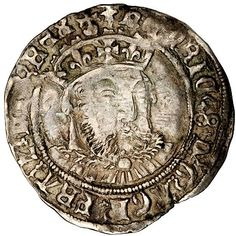 Tudor coin from King Henry viii's reign.And he looks EXACTLY like the fat,spoilt,wife-murdering tyrannical,it's-all-about-me bastard that he was.Imagine that.