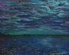 """Northwest Nights"" acrylic on canvas 24""x30"""
