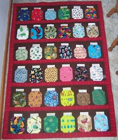 Bug Jar Quilt for the son of a friend of mine. (That big one ... : jar quilts - Adamdwight.com
