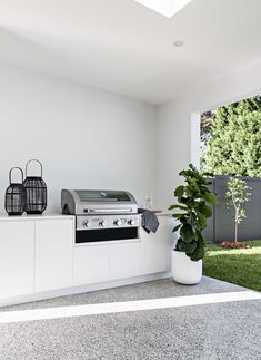 Home Interior Salas .Home Interior Salas Outdoor Bbq Kitchen, Outdoor Kitchen Design, Outdoor Living Rooms, Outdoor Spaces, Built In Grill, Cabana, Home And Living, House Design, Garden Design