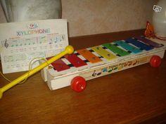Xylophone en bois Fisher Price. Vintage.
