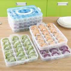 1pc Fresh-keeping Four Layer Portable Dumpling Case