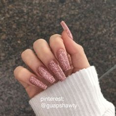 designs on paper nail art designs pictures nail art tutorial nail design nail designs 2017 nails acrylic nails coffin to do glitter nails designs with glitter tips Cute Acrylic Nails, Acrylic Nail Designs, Cute Nails, Pretty Nails, Simple Acrylic Nail Ideas, Acrylic Art, Simple Nails, Gold Nails, Pink Nails